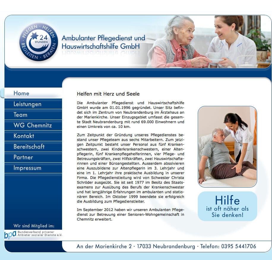 Ambulanter Pflegedienst und Hauswirtschaftshilfe GmbH