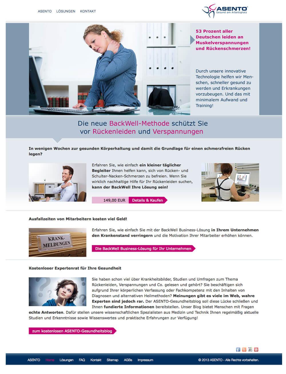 BackWell | ASENTO - Gesund am Arbeitsplatz