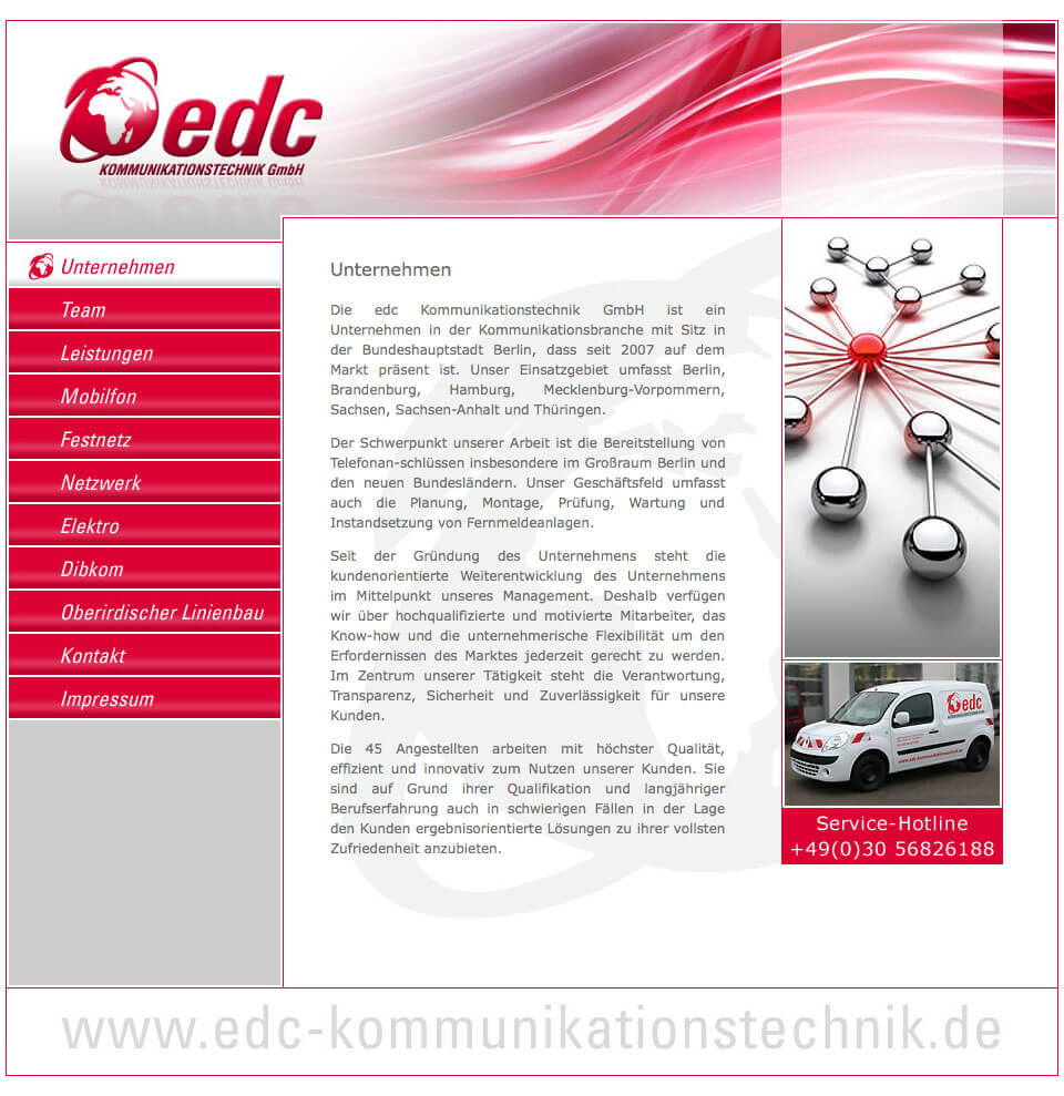 Relaunch – edc Kommunikationstechnik GmbH