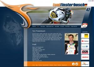 Motorradrennsport und Marketing Toni Finsterbusch