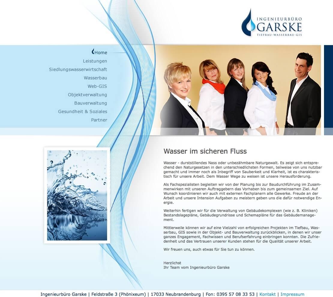 Relaunch INGENIEURBÜRO GARSKE