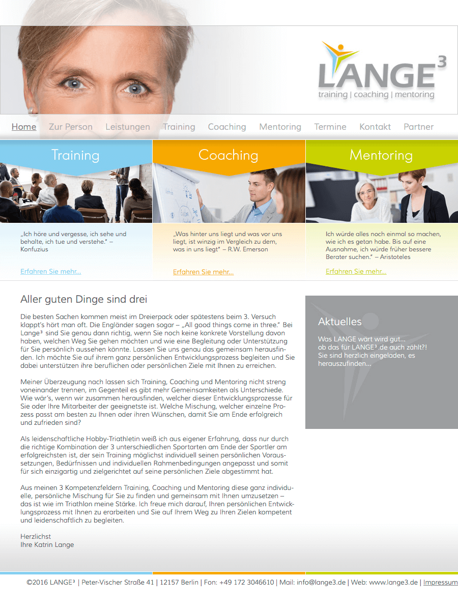 LANGE³ – training, coaching, mentoring